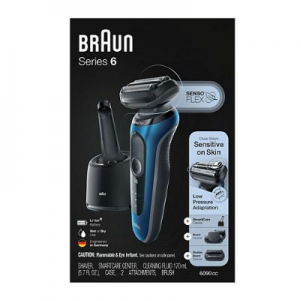 Braun Series 6 6090cc Electric Razor for Men with SmartCare Center, Beard and Stubble Trimmer