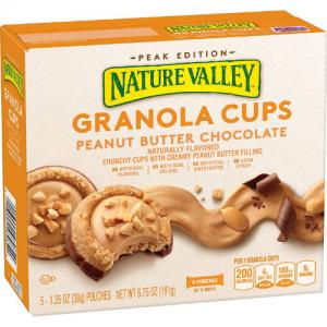 Nature Valley 燕麥營養餅幹 花生醬+巧克力口味 5盒 @ Amazon.com