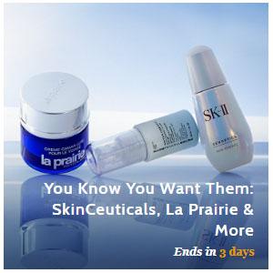 Beauty Sale (La Prairie, SK-II, SkinCeuticals, Shiseido, L'Occitane, Sisley & More) @ Gilt