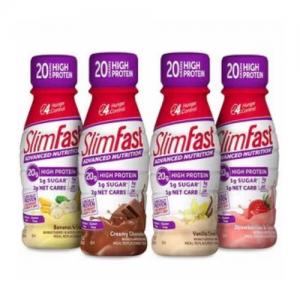 SlimFast 高蛋白營養代餐奶昔 11oz 12瓶裝