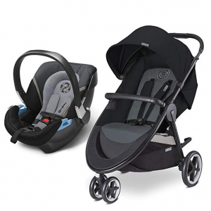 CYBEX Agis M-Air 3/Aton 2/Aton Base 2 Travel System, Moon Dust @ Amazon