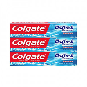 Colgate Max Fresh Toothpaste with Mini Breath Strips, Cool Mint - 7.6 Ounce (3 Pack) @ Amazon.com