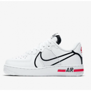 Nike Air Force 1 React Big Kids' Shoe @Nike.com, White/University Red/Black