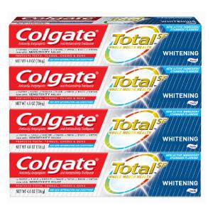 Colgate Total Whitening Toothpaste, 4.8oz 4pk @ Walmart