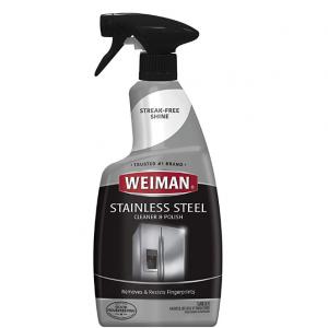 Weiman Stainless Steel Cleaner and Polish - Streak-Free Shine - 22 fl. oz. @ Amazon