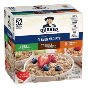 Quaker Instant Oatmeal Variety Pack (52 ct.) @ Sam's Club