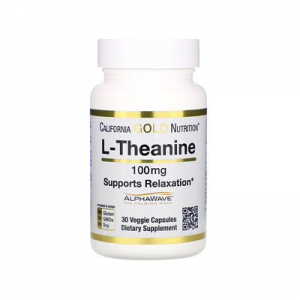 California Gold Nutrition, L-Theanine, AlphaWave, Supports Relaxation, Calm Focus