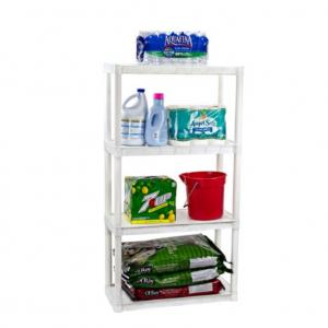 "Plano 30""W x 14""D x 55.5""H 4-Shelf Solid Shelving Unit, White @ Walmart"