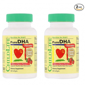 Child Life Pure DHA Dietary Supplement, 90 Soft Gel Capsules (Pack of 2) @ Amazon