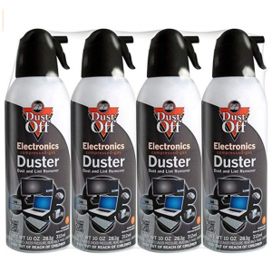 Falcon Dust-Off Electronics Compressed Gas Duster 10 Oz (4 Pack) @ Amazon