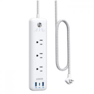 Anker 3孔插座 带有30W 3USB 接口 (1个USB C,2个USB A)  @Amazon
