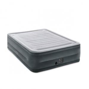 Intex 22寸高絨麵充氣床墊帶充氣泵 Queen @ eBay US