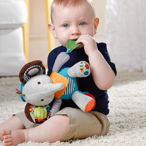 Skip Hop Bandana Buddies Baby Activity and Teething Toy, Elephant @ Amazon