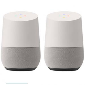 Extra $60 off Google Smart Speaker with Google Assistant, White/Slate (2 Pack) @BuyDig