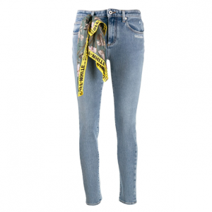 OFF-WHITE scarf detail skinny jeans @ Farfetch