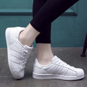 Zappos官网 Adidas阿迪达斯Superstar 大童金标白色贝壳头热卖