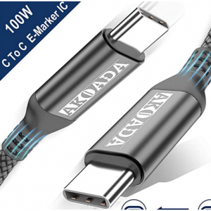 Amazon - Akoada USB-C数据线/充电线,适用2019/2018的MacBook、MacBook Pro,直降$9