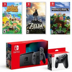 Nintendo Switch 灰色续航版超级套装 @ GameStop