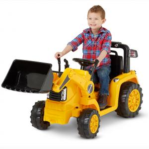 Kid Trax 儿童挖掘机电动车,黄色 @ Walmart