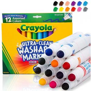 Crayola 可擦洗记号笔 12只 @ Amazon