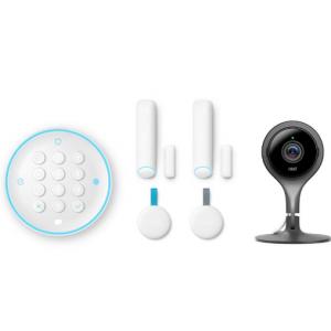 Nest Secure Alarm System with Google Nest Cam Indoor Security Camera @Home Depot