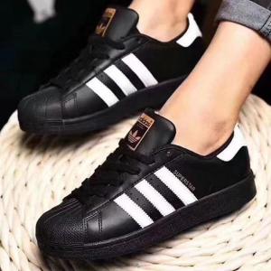 eBay US官网 Adidas阿迪达斯Superstar大童款黑金标贝壳头热卖