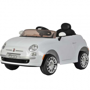 Best Ride On Cars Fiat 500 12V 兒童電動車,白色 @ Amazon