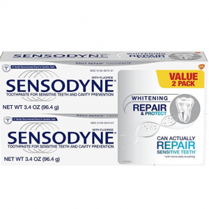 Sensodyne Repair and Protect Whitening Sensitivity Toothpaste, 3.4 ounces (Pack of 2) @ Amazon