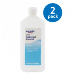 Equate 70% Isopropyl Alcohol, 32 Oz, 2 Pack @ Walmart