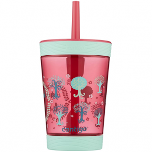 Contigo 防溢儿童吸管杯,14盎司,粉红色 @ Amazon