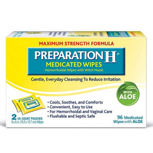 Preparation H Flushable Medicated Hemorrhoid Wipes (2 x 48 Count, 96 Count) @ Amazon