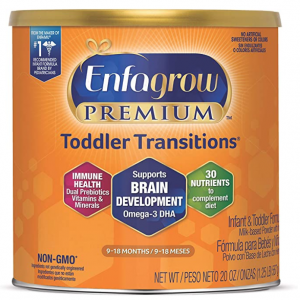 Enfagrow PREMIUM Non-GMO Toddler Transitions Formula - Powder can, 20 oz @ Amazon