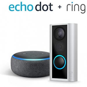 Amazon - Ring Peephole Cam 貓眼智能門鈴 + Echo Dot 3