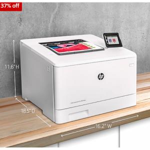 Staples - 惠普 HP LaserJet Pro M454dw 無線彩色激光打印機,7.2折, 自動雙麵打印