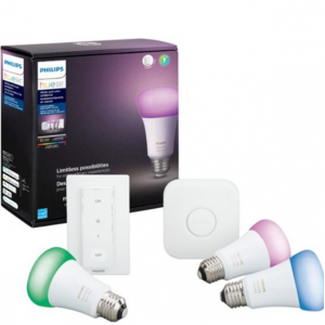 Best Buy - Philips Hue White and Color 智能燈泡 入門套裝,直降$40