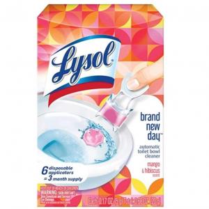 Lysol Automatic Toilet Bowl Cleaner, Click Gel, Mango & Hibiscus, 6 Count @ Amazon
