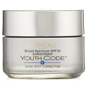 L'Oreal Paris Youth Code Dark Spot Corrector Facial Day Cream SPF 30, 1.7 Ounce @ Amazon