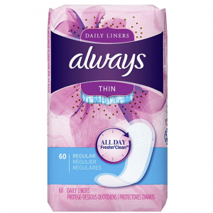 Always Daily Liners Sale @ Amazon