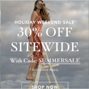 July 4th Sale - Extra 30% Off Sitewide @ Sam Edelman