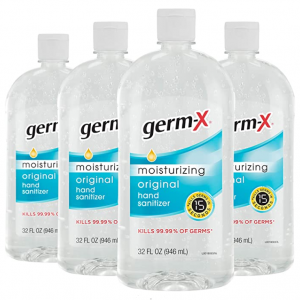 Germ-X Hand Sanitizer, Original, 32 Fluid Ounce (Pack of 4) @ Amazon