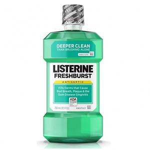 Listerine Freshburst/Cool Mint Antiseptic Mouthwash,250 mL @ Amazon