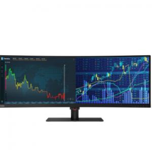 Lenovo - 直降$454,ThinkVision P44w-10 43.4'' 32:10 超宽屏曲面1200p显示器,立减$454