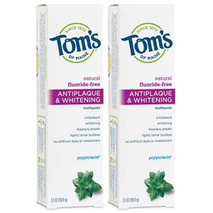 Tom's of Maine 美白祛斑牙膏,5.5盎司, 2支 @ Amazon