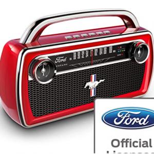 Amazon - ION x Ford 野馬複古 Boombox 藍牙音箱 帶收音機
