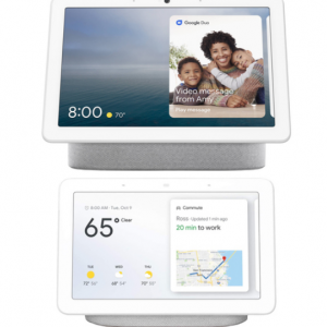 9% off Google Nest Hub Max Smart Display + Nest Home Hub Chalk @Buydig