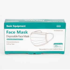 Basic Equipment 3-Ply Disposable Face Masks, 25 ct. @ Walmart