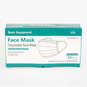 Basic Equipment 一次性3層防護口罩,25個 @ Walmart