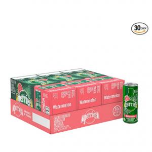 Perrier 法國巴黎天然果味氣泡水250ml 30罐裝熱銷 @ Amazon