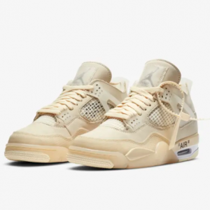 "Nike官网 Air Jordan 4 x Off-White ""Sail"" 新配色即将开售"