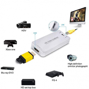 61% OFF DIGITNOW Video Converters, USB Capture HDMI Video Card, Broadcast Live Stream and Record,